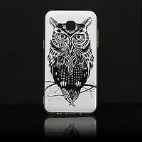 Чехол Print для Samsung J3 2016 / J320 / J300 силиконовый бампер Owl