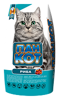Корм для взрослых кошек Пан Кот Рыбка 10кг