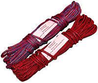 Веревки бытовые (4mm/15m) плетеные шнуры, цветные, фото 1