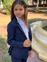 Пиджак подростковый на пуговицах с воланами 140-152 см