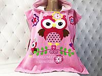 Детское полотенце - пончо, Сова