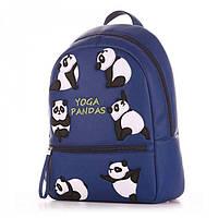 Синий рюкзак для девушек с пандами Alba Soboni арт. 130692