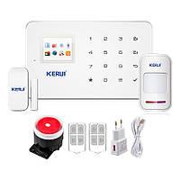 Сигнализация для дома или квартиры комплект GSM KERUI G-18 Plus