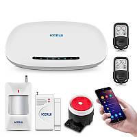 Сигнализация для дома или квартиры комплект GSM KERUI W19