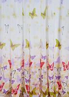 Тюль батист с  рисунком бабочки 4