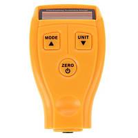 Толщиномер автомобильный для лакокрасочного покрытия цифровой Желтый G-M 200 plus