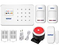 Сигнализация для дома или квартиры комплект GSM KERUI G-18 modern plus для 1-комнатной квартиры Белый