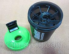 Шейкер для спортивного питания Maxler 3-х камерный 600 мл, фото 3