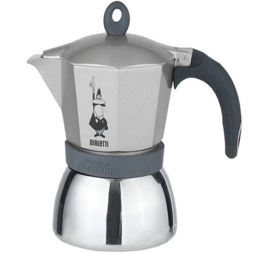 Гейзерная кофеварка Bialetti Moka Induction Silver на 3 порции (0004822X4)
