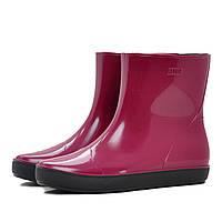 Женские утепленные резиновые ботинки (ботильоны, сапоги) NORDMAN ALIDA бордовые с черной подошвой