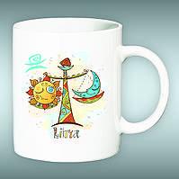 """Чашка со знаком зодиака """"Весы"""". Печать на чашках"""