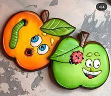 Набор трафаретов + формочек-вырубок для пряников  Игривые яблочки