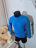 Джемпер з двонитки блакитний, жовтий, 92, 98, 86 Детская кофта свитшот