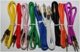 AUX audio cable noodle weave, black