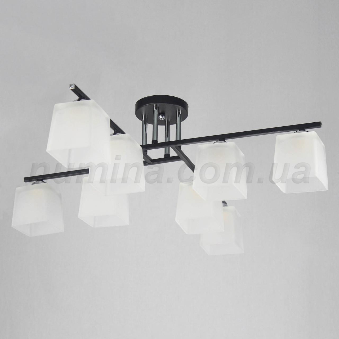 Люстра потолочная на восемь ламп 29-E512/8 CR+BK+WT