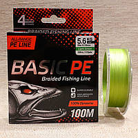 Шнур Basic PE 100m. салат.