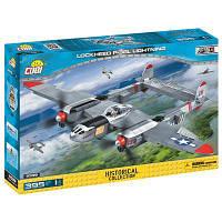 Конструктор Cobi Вторая Мировая Война Самолет Локхид П-38 Лайтнинг 395 деталей (COBI-5539)