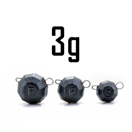 """Груз """"Гранёный"""" 3 гр. BLACK (5 шт.) Fanatik"""