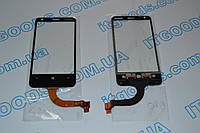Оригинальный тачскрин / сенсор (сенсорное стекло) для Nokia Lumia 620 REV 3 (черный цвет, самоклейка)