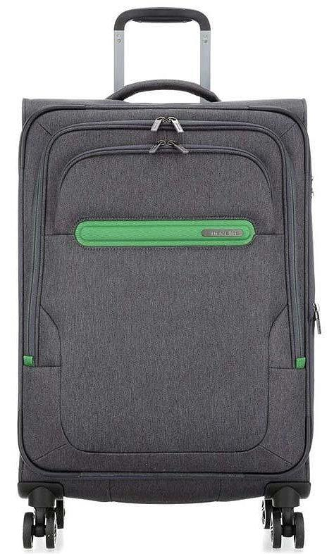 Тканевый чемодан Travelite tl092148-04, средний, серый, 60л