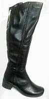 Ботфорты женские зимние большого размера кожа, женская обувь больших размеров от производителя модель МИ5223-5