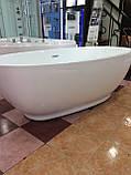 Отдельностоящая акриловая ванна с ножками Dusel DU106, 1800x900х580 мм, фото 4