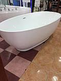 Отдельностоящая акриловая ванна с ножками Dusel DU106, 1800x900х580 мм, фото 5
