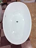 Отдельностоящая акриловая ванна с ножками Dusel DU106, 1800x900х580 мм, фото 6