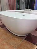 Отдельностоящая акриловая ванна с ножками Dusel DU106, 1800x900х580 мм, фото 7