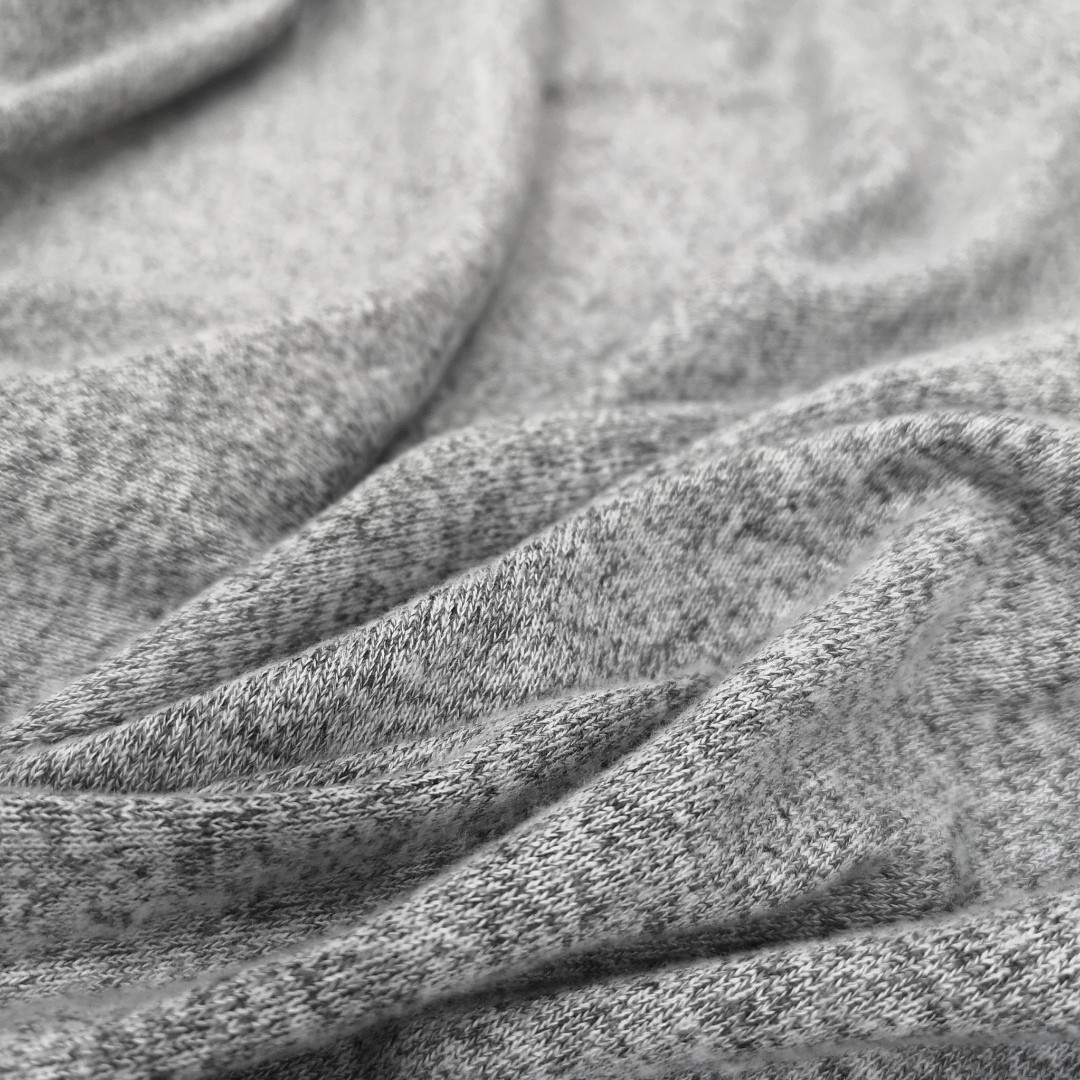 Трикотаж ангора светло- серый меланж