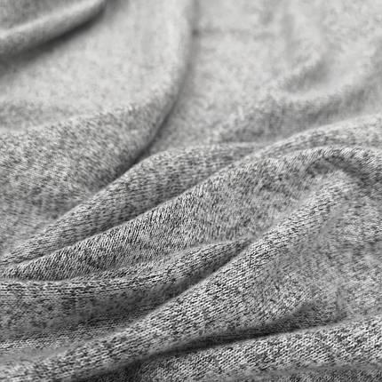 Трикотаж ангора светло- серый меланж, фото 2
