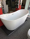 Отдельностоящая акриловая ванна с ножками Dusel DU104, 1800x800х720 мм, фото 5