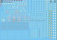 Набор  декалей для отечественных паровозов, для масштаба ТТ (1:120)