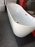 Отдельностоящая акриловая ванна с ножками Dusel DU104, 1800x800х720 мм, фото 7