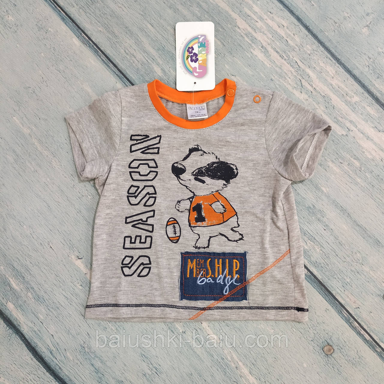 Детская футболка трикотажная на мальчика, р. 74