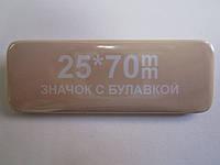 Бейдж прямоугольный 25*70мм