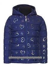 Детская демисезонная куртка для девочки Сердечки | размеры от 1 года до 5., фото 3