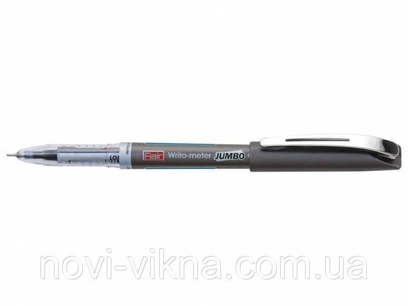 Ручка шариковая Flair Writometer 12,5 км, синяя.