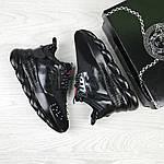 Жіночі кросівки Versace (чорні), фото 6