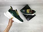 Жіночі кросівки Versace (темно-зелені), фото 4