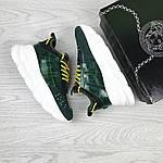 Жіночі кросівки Versace (темно-зелені), фото 6