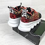 Жіночі кросівки Versace (леопардове), фото 6