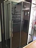 Душевая кабина Dusel DL194, 90х90х190, двери раздвижные, профиль хром, стекло прозрачное, фото 2