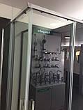 Душевая кабина Dusel DL194, 90х90х190, двери раздвижные, профиль хром, стекло прозрачное, фото 4