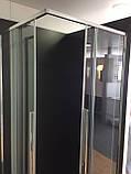 Душевая кабина Dusel DL194, 90х90х190, двери раздвижные, профиль хром, стекло прозрачное, фото 5