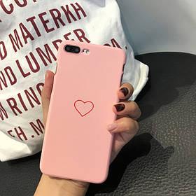 Чехол Case Cover Heart Love Pink для Apple IPhone 6/6S