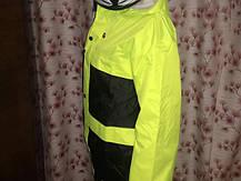 Яркий Мото дождевик светоотражающий комплект мотодождевик салатовый мото комбенизон, фото 3