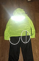Яркий Мото дождевик светоотражающий комплект мотодождевик салатовый мото комбенизон, фото 2