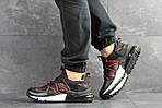 Мужские кроссовки Nike (черно-красные), фото 2