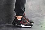 Мужские кроссовки Nike (черно-красные), фото 3